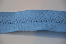 Teilbarer Reißverschluß, Farbe:Hellblau , 80cm, Schiene: 5,7 mm, 100% Nylon, Autolock mit Verriegelung.