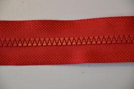 Reißverschluss, teilbar, 50cm, Farbe: Rot