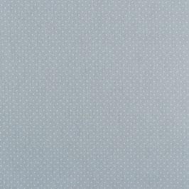 Baumwollstoff in Hellblau mit weißen Punkten