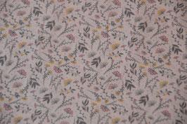 Digital Flower Print in Mint/Grau