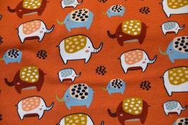 Soft Sweat Orange mit Elefanten