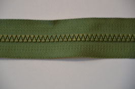 Reißverschluss, teilbar, 80cm, Farbe: Grün