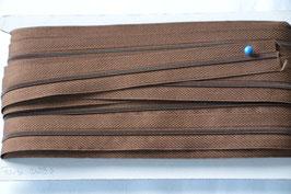 Enlosreisverschluß insklusiv 3 Zipper Farbe:Mittelbraun