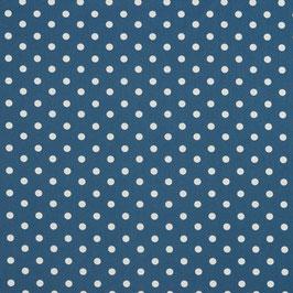 Baumwolle Jeansblau mit großen Punkten