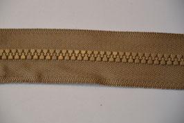 Reißverschluss,teilbar, 60cm, Farbe: Hellbraun