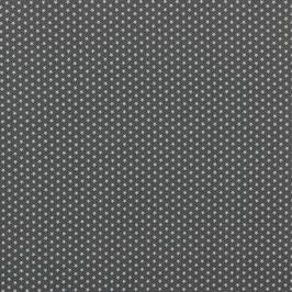Baumwollstoff in Grau mit weißen, kleinen Sternen