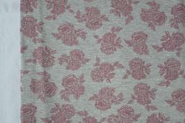 Einzelteil, Rosen auf Grau, 1,50 Meter,
