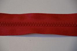 Reißverschluss, teilbar, 70cm, Farbe: Rot