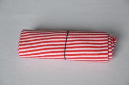 Bündchen Rot/Weiß gestreift