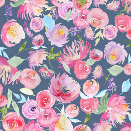 Toller Blumenstoff in Digitaldruck