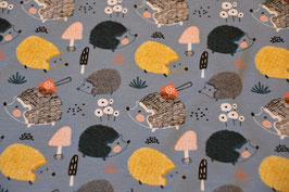 Der Igel und die Pilze