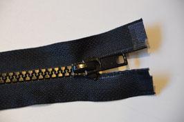 Reißverschluss, teilbar, 80cm, Farbe: schwarz