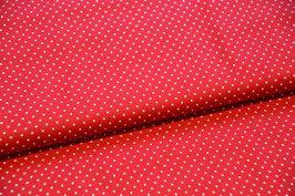 Rot/Weißer Punktestoff 100% Baumwolle, Breite:1,45