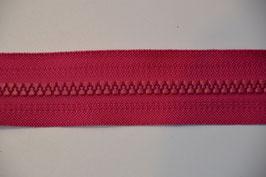 Teilbarer Reißverschluß, Farbe: Pink, 60cm, Schiene: 5,7 mm, 100% Nylon, Autolock mit Verriegelung. me