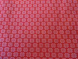 Rot/Weisses Blumenmotiv in Hell Rot