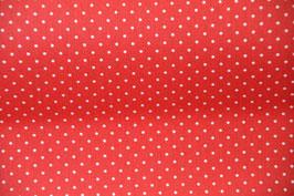 Beschichtete Baumwolle in Rot mit Pünktchen