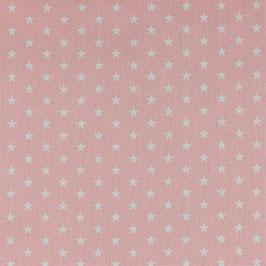 Baumwolle Rosa mit weißen Sternen