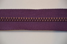 Reißverschluss, teilbar, 80cm, Farbe: Dunkellila