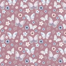 Jersey BIO Digital Schmetterlinge nur in der Farbe: Mauve