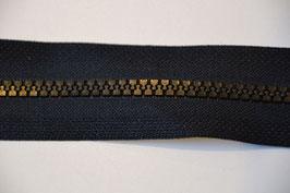 Reißverschluss, teilbar, 70cm, Farbe: Schwarz