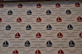 Maritimer Taschenstoff mit Segelboote
