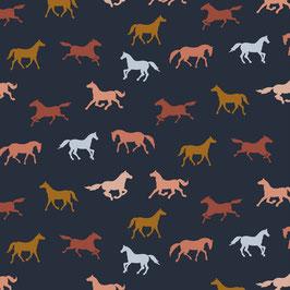 Pferde Jersey auf der Farbe : Marine