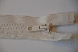 Reißverschluss, teilbar, 70cm, Farbe: Ecru