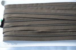 Enlosreisverschluß insklusiv 3 Zipper Farbe: Schlamm