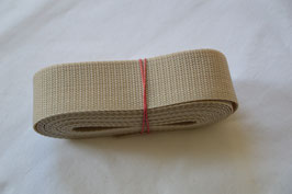 Gurtband 40mm Beige