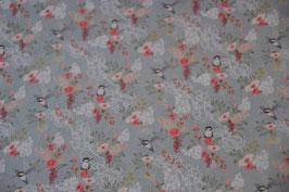 Canvas Kolibri mit Blumen