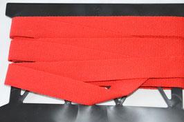 Gurtband 30mm Rot Reine Baumwolle