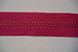 Reißverschluss, teilbar, 70cm, Farbe: Pink