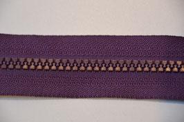 Reißverschluss, teilbar, 70cm, Farbe: Dunkellila