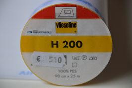 Bügeleinlage: H 200 , Breite 0,90 cm