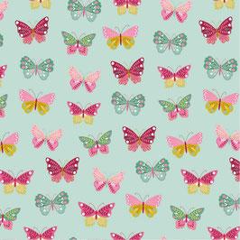Schmetterlinge in Leicht mint