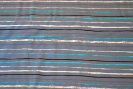 Streifenlook in Türkis/grau