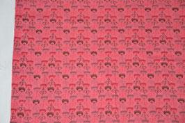 Einzelteile, Jersey, 1,5 Meter, Pink mit Streublumen,