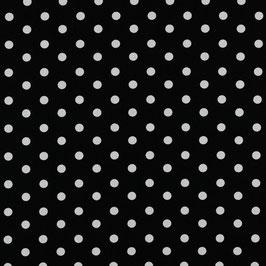 Baumwolle schwarz mit weißen Punkten