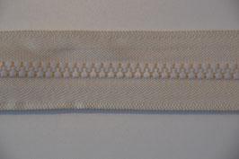 Reißverschluss, teilbar, 60cm, Farbe: Ecru