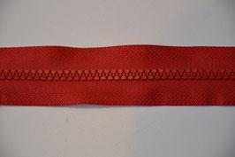 Reißverschluss, teilbar, 60cm, Farbe: Rot