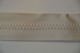 Reißverschluss, teilbar, 50cm, Farbe: Ecru