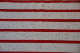 Multicolor Steifen Weiss-Rot