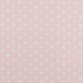 Baumwolle Rosa mit großen Punkten
