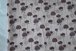 Sweat, Einzelteil, 1 Meter, Blumenmotiv