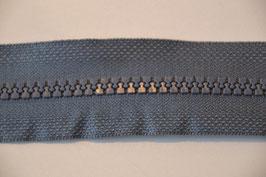 Reißverschluß, teilbar, 50cm, Farbe: Grau