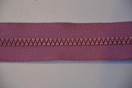 Reißverschluss, teilbar, 70cm, Farbe: Altrosa