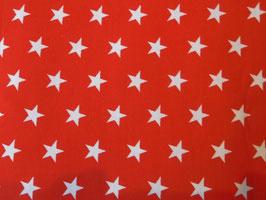 Roter Baumwollstoff mit Weißen Sternen