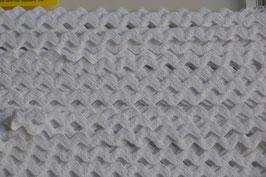 Zackenlitze weiß, 10mm Reine Baumwolle