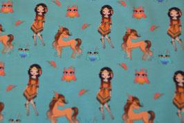 Indianererin mit Pony