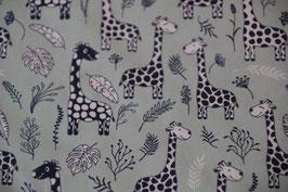 Giraffen auf Hellblau